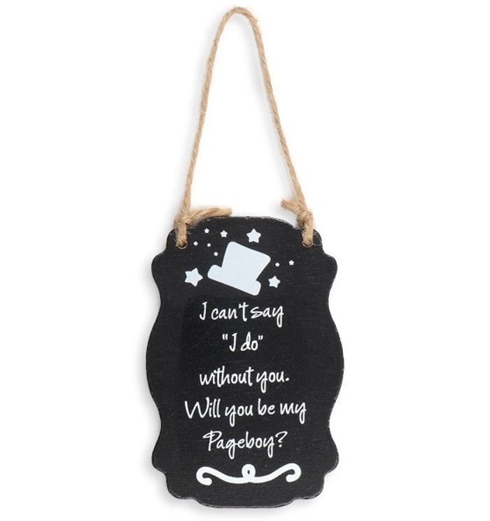 Wooden Blackboard - Will you be my page boy