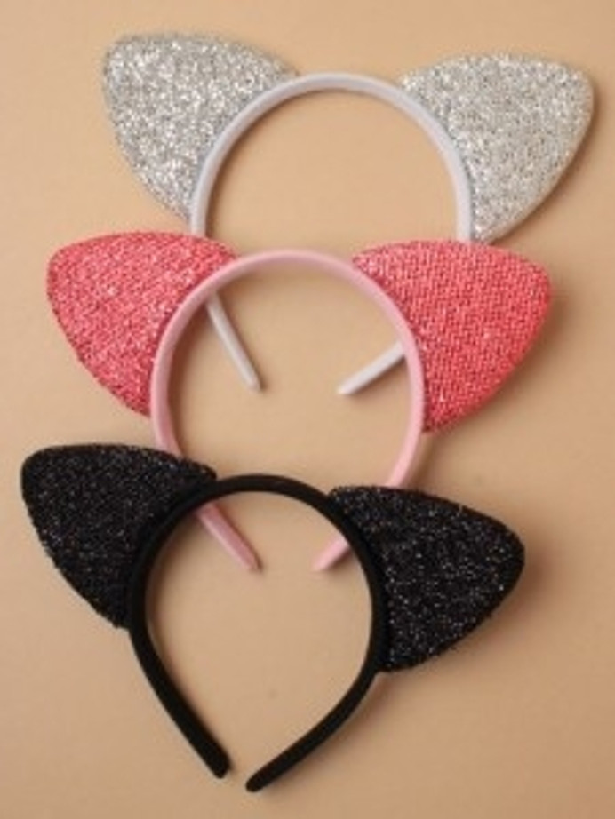 Aliceband Sparkly Cat Ears