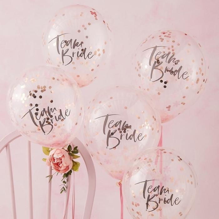 Floral Hen Party -Confetti Balloons Team Bride