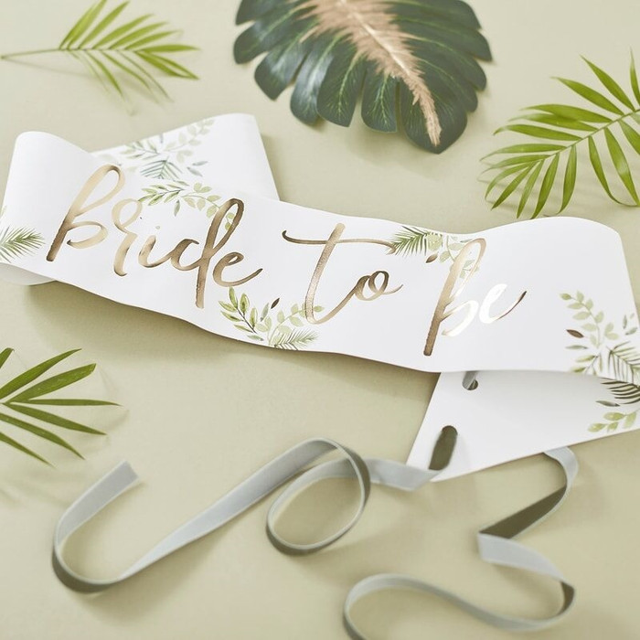 Gold Foiled -Bride To Be Sash