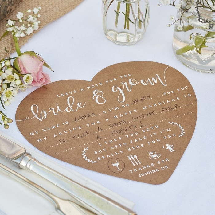Advice Cards for the Bride & Groom  - Rustic Country