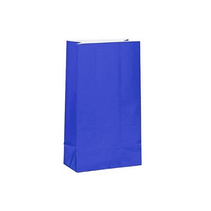 Party Bag, Royal Blue with Handles, 14Wx21Lx7Dcm