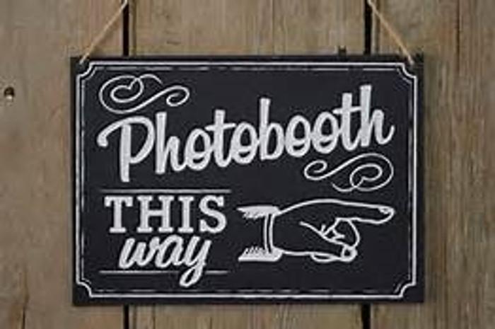 1 Photo Booth Sign, Vintage Affair