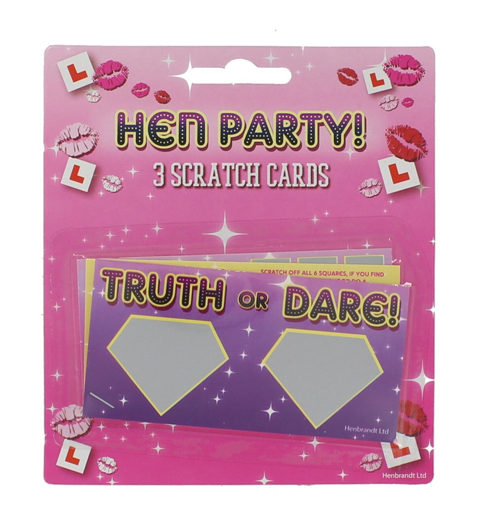 Hen Party - 3 Scratch Cards