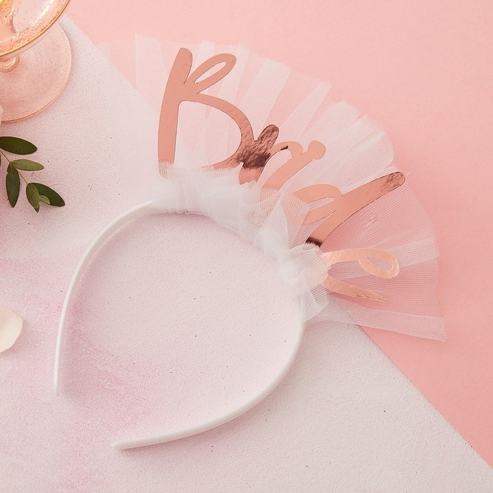 Bride To Be Headband Veil - Floral Hen Party