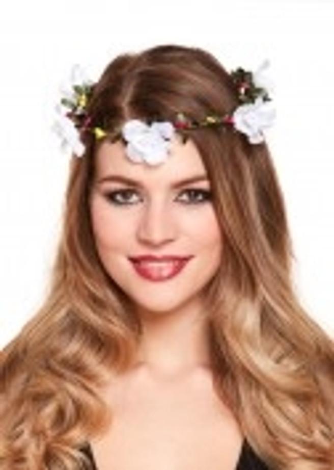 Flower Headband With Flowers White
