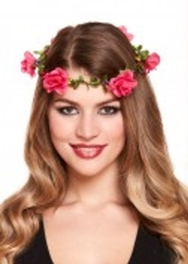 Flower Headband With Flowers Pink