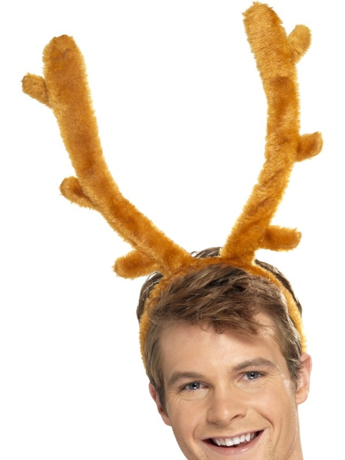 Stag Night Horns, Brown, with Headband