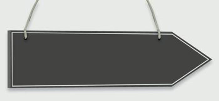 Wooden Arrow Blackboard 30.5cm x 7.6cm 1pc