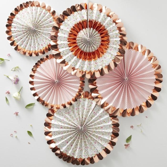 Ditsy Floral - Fan Decorations - Floral (5pk)