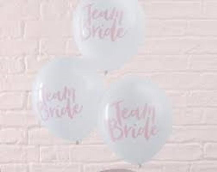 Balloons - Team Bride Pink & Rose Gold Balloons