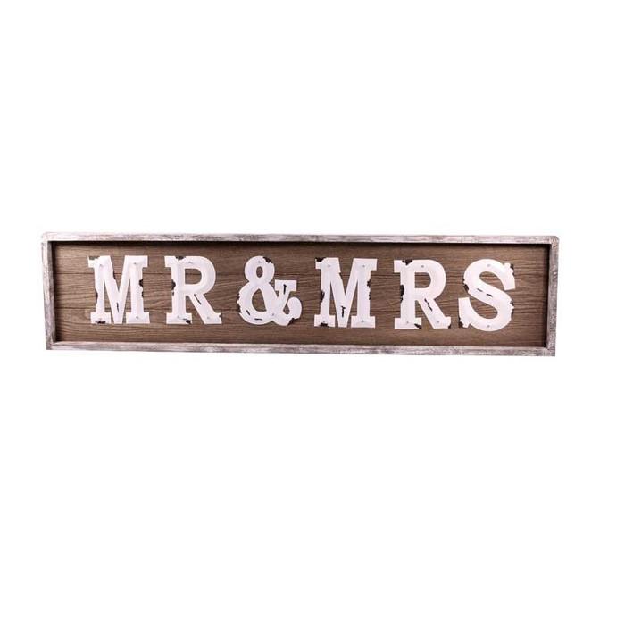 Large Mr & Mrs rustic sign rental