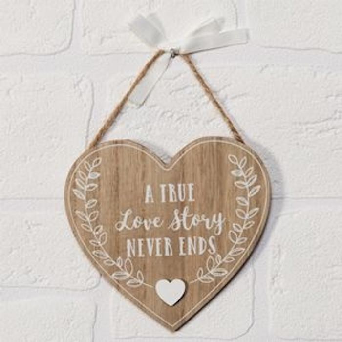 True Love Story Plaque