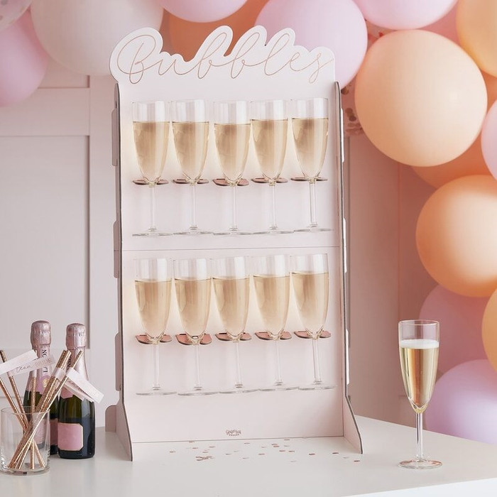 Prosecco Bubbly Drinks Wall Holder - Rose Gold