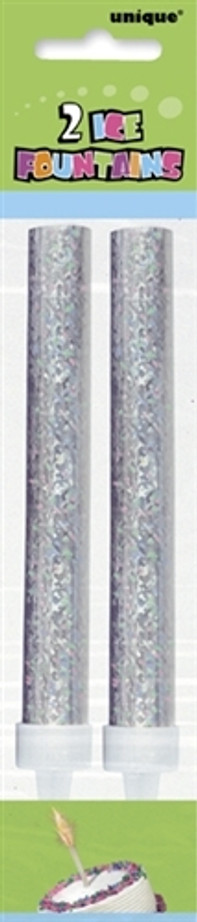 Ice Fountains Silver ( Pack of 2 )