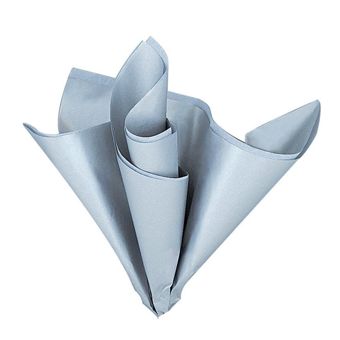 5 Tissue Sheets, Silver Metallic