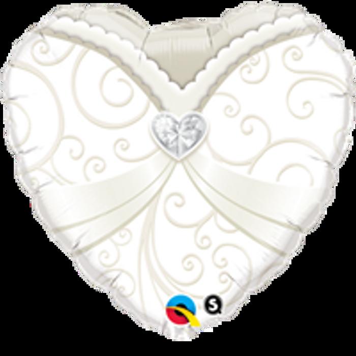 "18"" Heart Wedding Gown Foil"