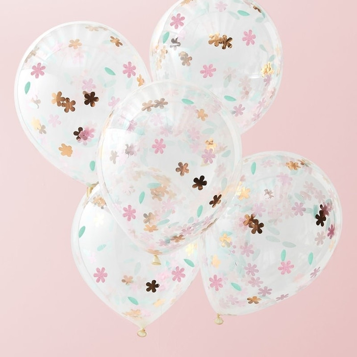 Floral Confetti Balloons - Ditsy Floral (5)