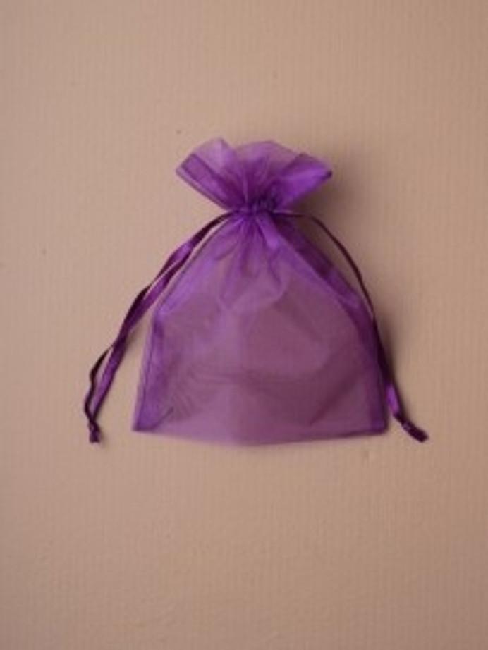 Organza Gift Bag 15 x 11cm, Purple