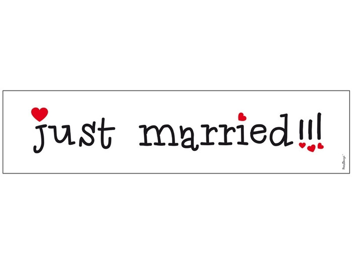Just Married Wedding Car Number Plate