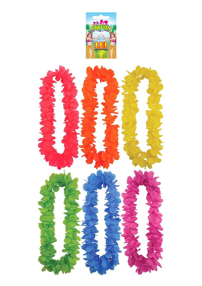 Lei Hula 100cm 9cm Petal Assorted Colours (1)