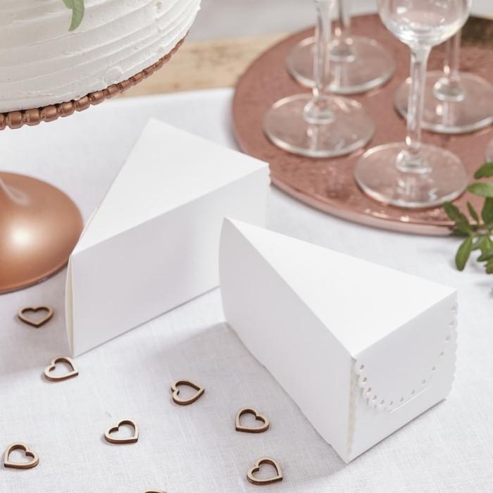 White Scalloped Cake Boxes