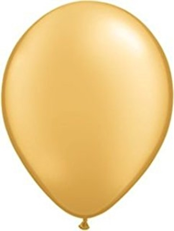 """11"""" Gold Latex Balloons (6 Pack)"""