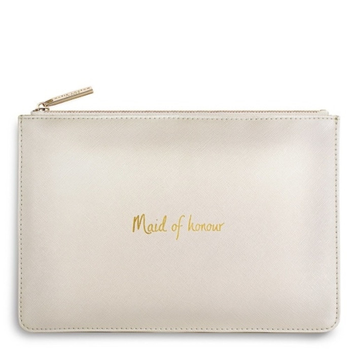 Katie Loxton Maid of Honour Pouch, Pearly White