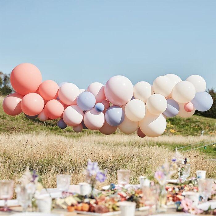 Blush, Nude & Blue Hen Party Balloon Arch Kit