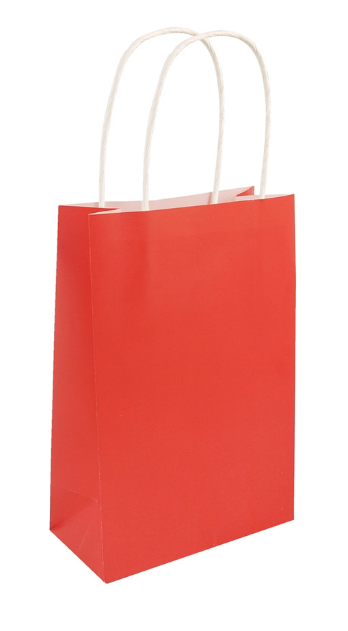 Party Bag, Red with Handles, 14Wx21Lx7Dcm