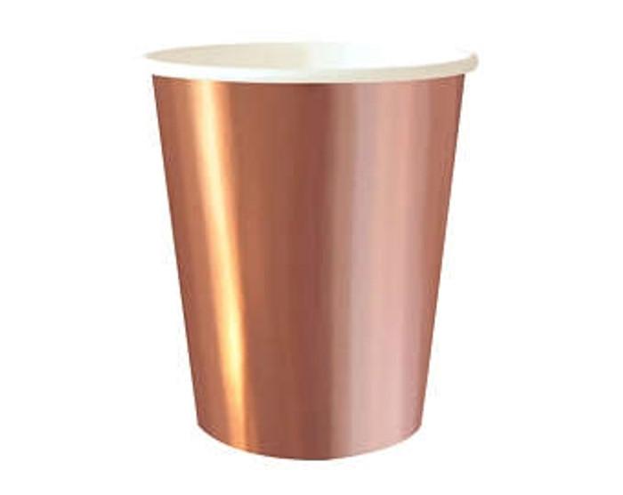 Rose Gold 12oz Cups ( 8 Per Pack)