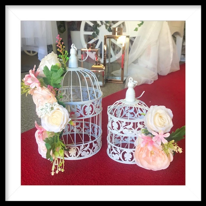 White Birdcages rental