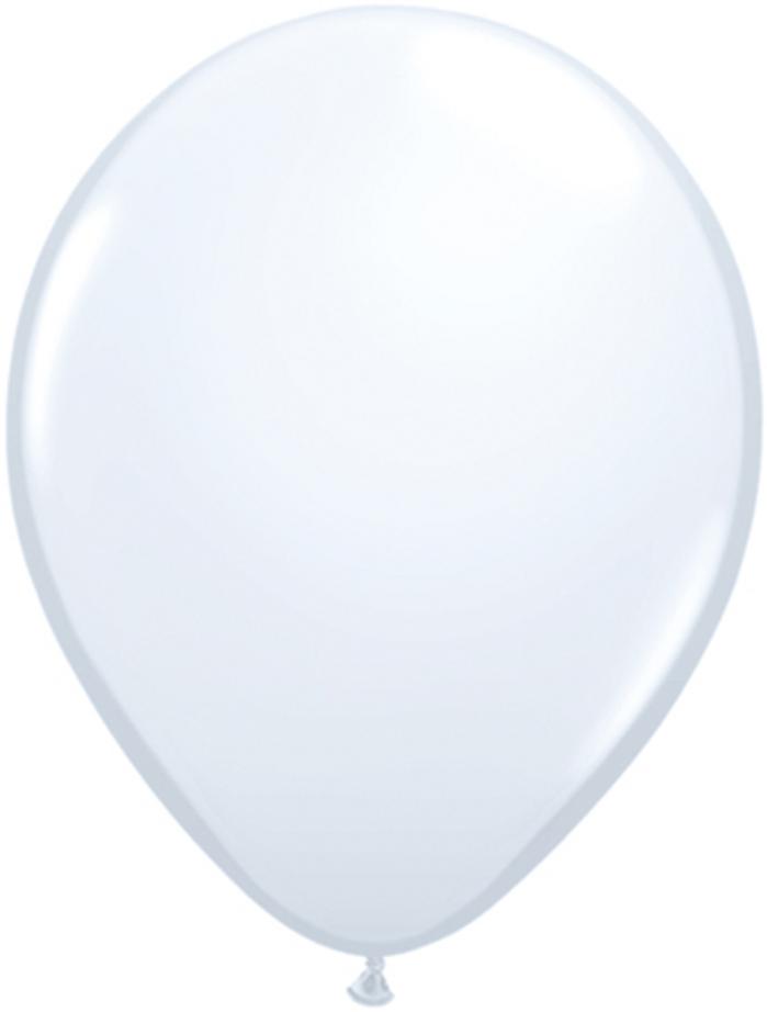 "11"" White Latex Balloons ( 6 per Pack)"