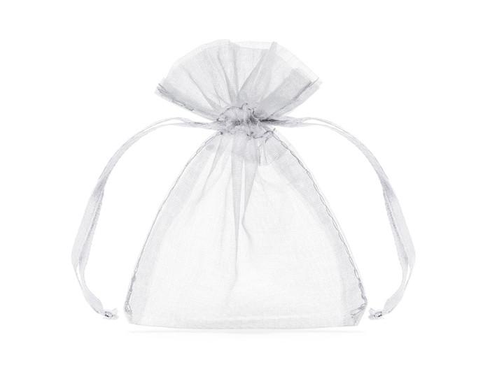 Organza Gift Bag 15 x 11cm, White