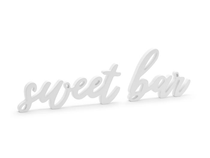 Wooden Inscription Sweet Bar