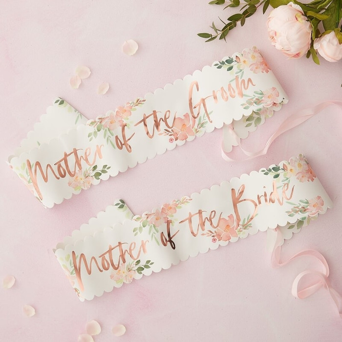 Floral Hen Party -Mother of the Groom & Bride sash - 2 Pack