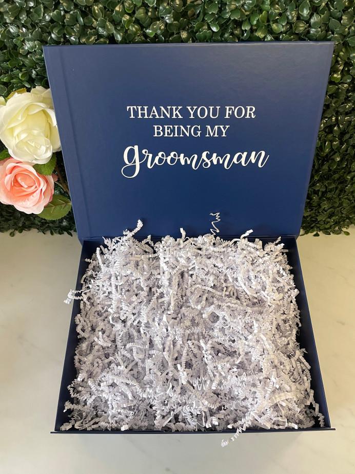 Personalised Bridal Box - Large Navy Blue