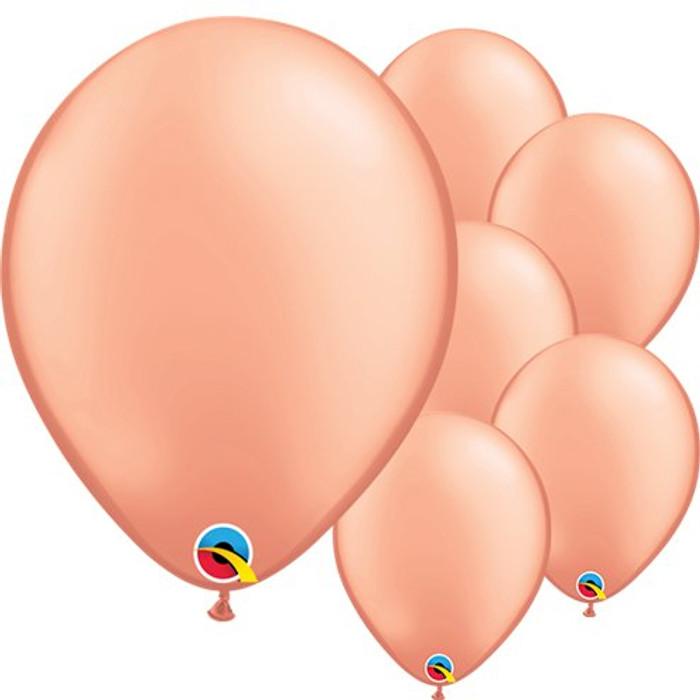 "11"" Rose Gold Latex Balloons ( 6 per Pack)"