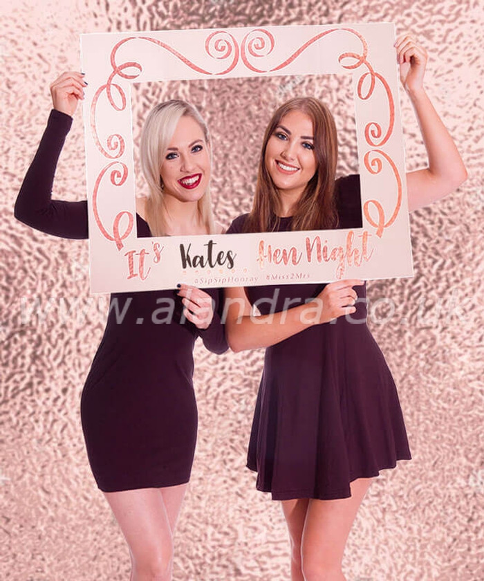 Personalised Rose Gold Hen Do Giant Photo Frame