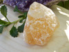 Orange Calcite Half Polished Chunk