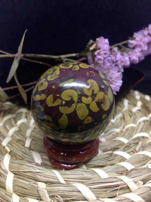 Bamboo Jasper Sphere