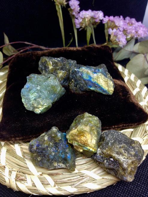 Labradorite roughs