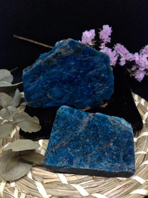 Blue Apatite slices