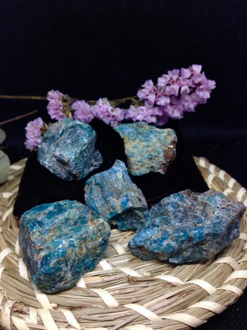 Raw Blue Apatite