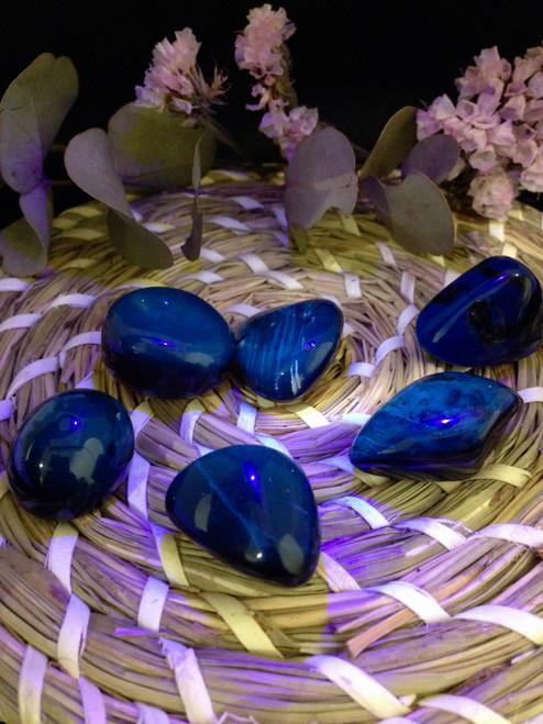 Genuine Sumatran Blue Amber - Small tumbles