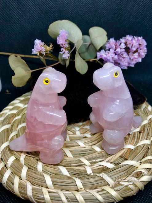 Rose quartz Dinosaur