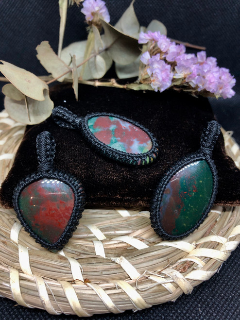 bloodstone pendants