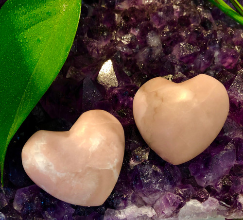 Pink Opal Hearts