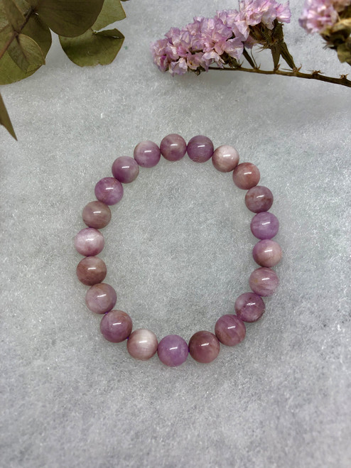 Kunzite bead bracelet