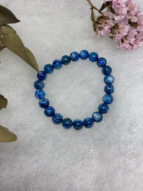 Kyanite bead bracelet